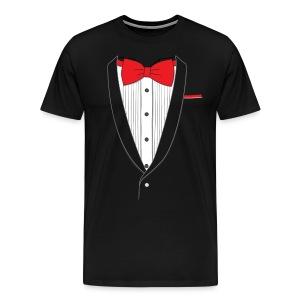 Tuxedo T Shirt Classic Red Tie - Men's Premium T-Shirt