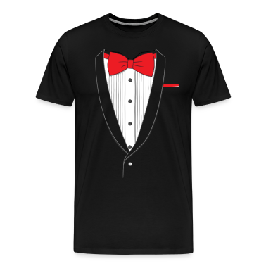 Tuxedo T Shirt Classic Red Tie