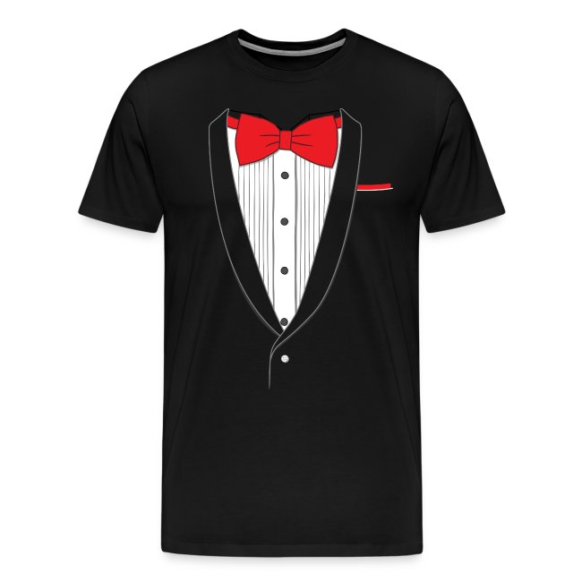 e6b6dce8 Fake Tuxedo Shirts | Tuxedo T Shirt Classic Red Tie - Mens Premium T ...