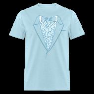 T-Shirts ~ Men's T-Shirt ~ Tuxedo T Shirt Deluxe Blue