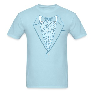 Tuxedo T Shirt Deluxe Blue - Men's T-Shirt