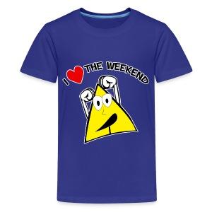 I Love The Weekend, No School - Kids' Premium T-Shirt