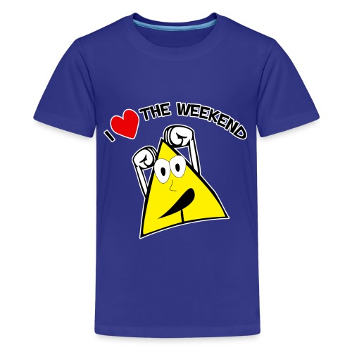 I Love The Weekend, No School - Kids' Premium T-Shirt