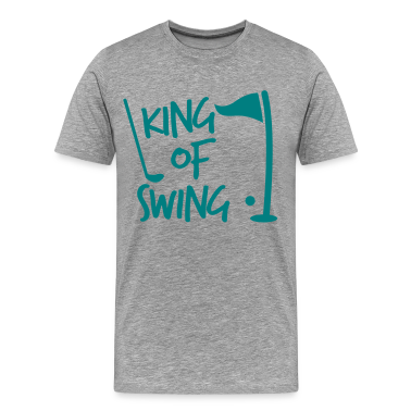 KING of SWING golf dad's day design T-Shirts
