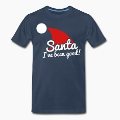santa I've been good with hat design T-Shirts