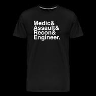 T-Shirts ~ Men's Premium T-Shirt ~ Battlefield: Bad Company 2: The Gang (Black)