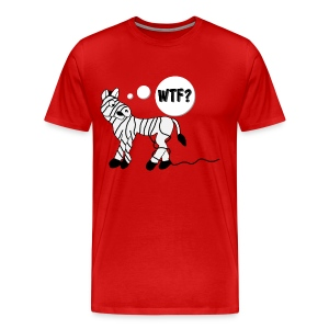 Men's Zebra T-Shirt (Comical) - Men's Premium T-Shirt