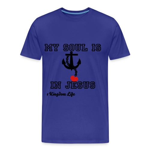 Men's my soul is anchored tee shirt - Men's Premium T-Shirt