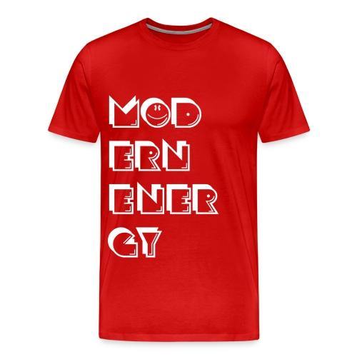 Modern Enerdy red t-shirt - Men's Premium T-Shirt