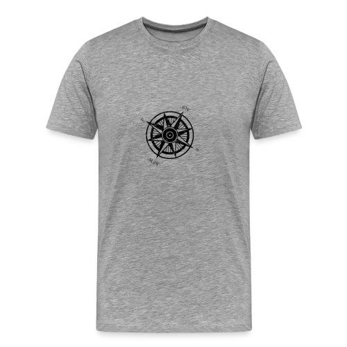 Ringworld Compass Rose | Robot Plunger - Men's Premium T-Shirt