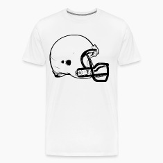 Football Helmet HD Design T-Shirts
