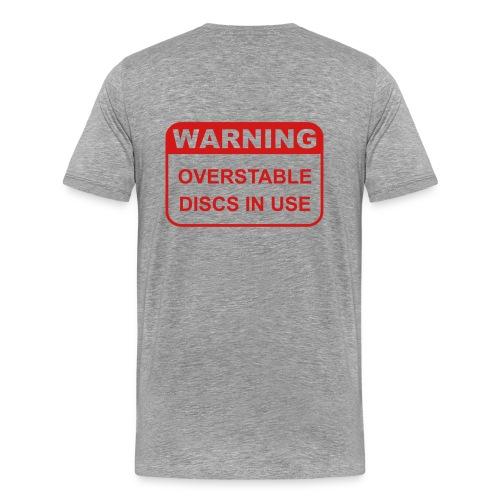Warning Overstable Discs in Use Ash Shirt - Men's Premium T-Shirt