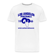 T-Shirts ~ Men's Premium T-Shirt ~ Los Angeles Football T-Shirt (White)
