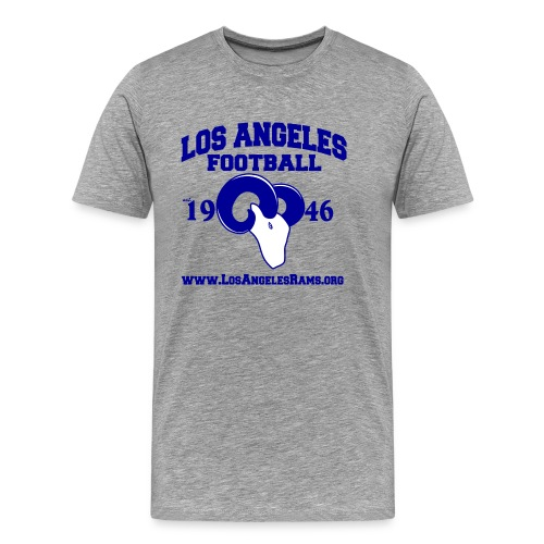 Los Angeles Football T-Shirt (Grey) - Men's Premium T-Shirt