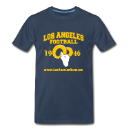 T-Shirts ~ Men's Premium T-Shirt ~ Los Angeles Football T-Shirt (Navy Blue)