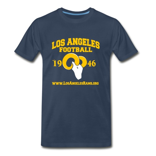 Los Angeles Football T-Shirt (Navy Blue) - Men's Premium T-Shirt