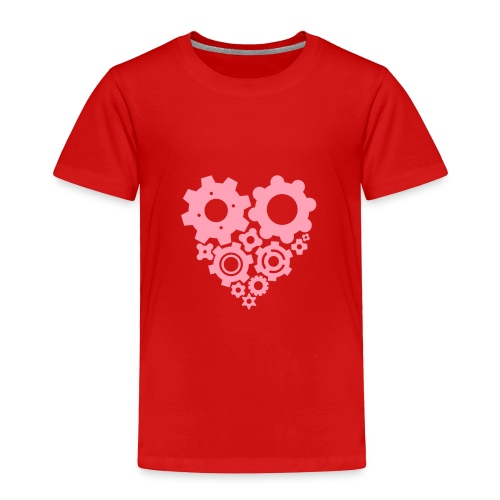 Pink Gear Heart - Pick your own  shirt color! - Toddler Premium T-Shirt