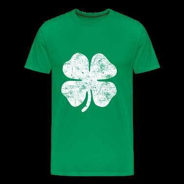 Grunge White Clover T-Shirts