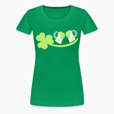 Shamrock green beer st.patrick's day Women's Plus Size Basic T-Shirt