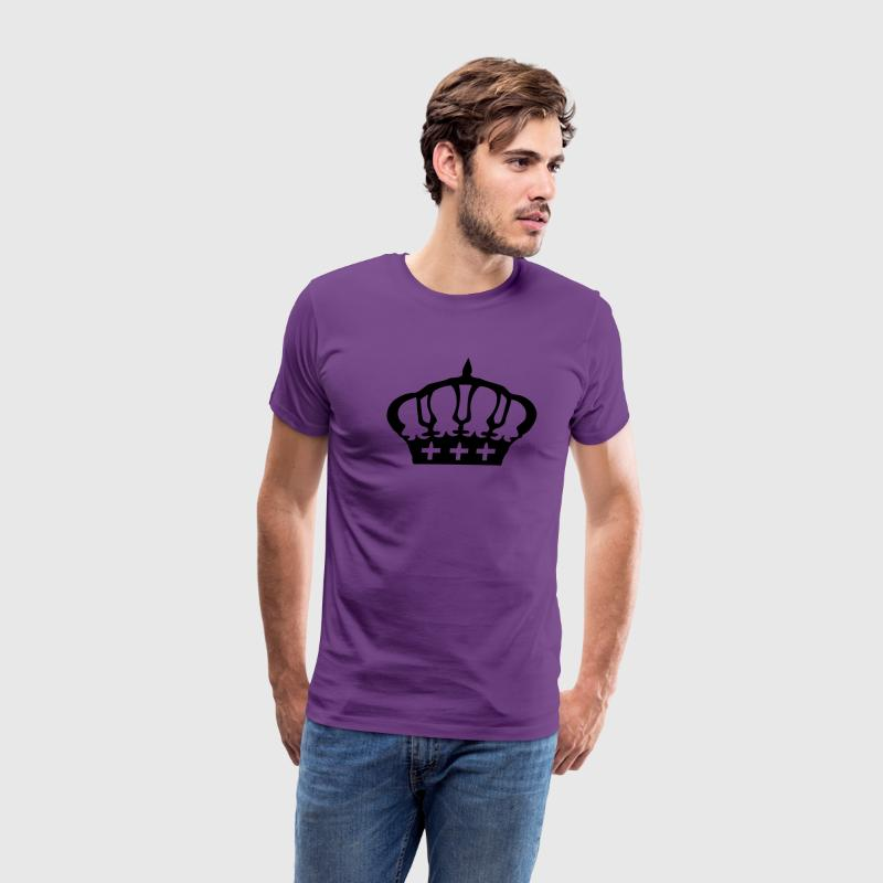 Cool Crown Men's Heavyweight T-Shirt - Men's Premium T-Shirt