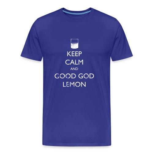 Keep Calm and Good God Lemon - 30 Rock | Robot Plunger - Men's Premium T-Shirt
