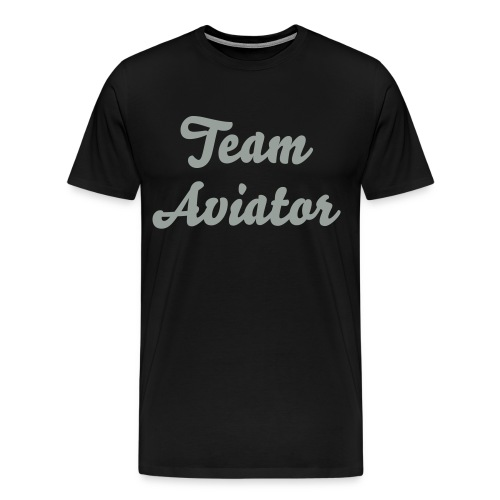 Team Aviator Script Tee - Men's Premium T-Shirt