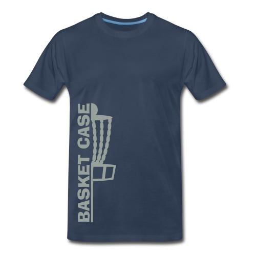Basket Case - Adult Disc Golf Shirt - Navy - Men's Premium T-Shirt