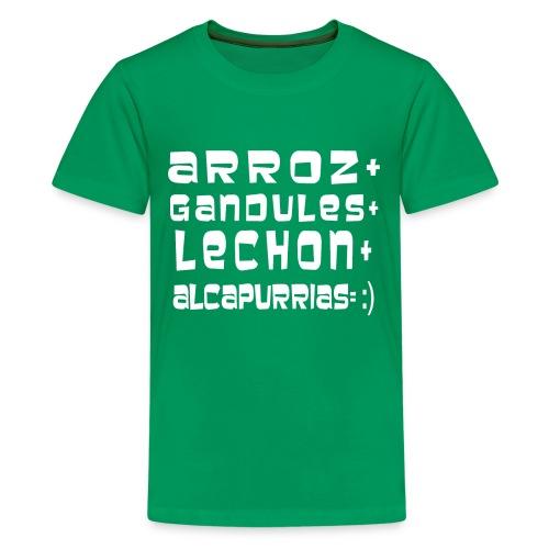 ARROZ+ GANDULES+ LECHON+ ALCAPURRIAS= :) KIDS - Kids' Premium T-Shirt