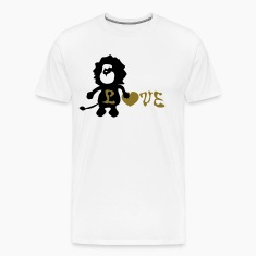 Lion &b love heart Men's Heavyweight T-Shirt