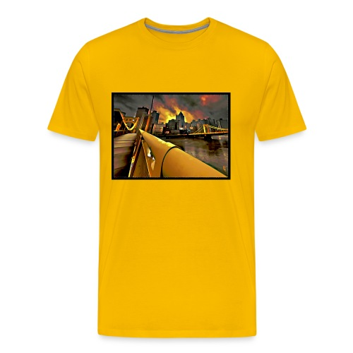 Pittsburgh Skyline - Men's Premium T-Shirt