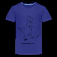 Kids' Shirts ~ Kids' Premium T-Shirt ~ T-Rex Flossing (Kids)