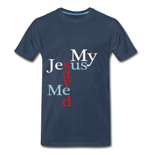 My Jesus Saved Me - Us Blue T - Men's Premium T-Shirt