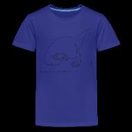 Kids' Shirts ~ Kids' Premium T-Shirt ~ T-Rex Cartwheel (Kids Tee)