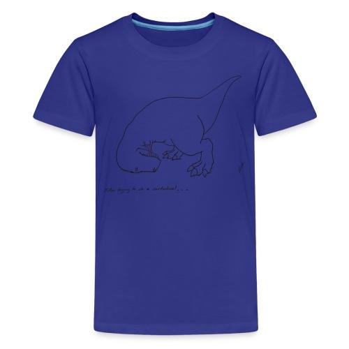 T-Rex Cartwheel (Kids Tee) - Kids' Premium T-Shirt