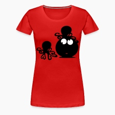 Funny face & octopus Women's Plus Size Basic T-Shirt