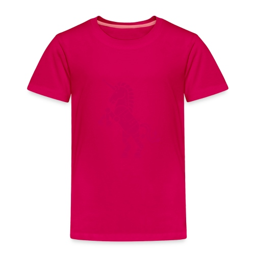 Robicorn Dark Pink on Pink - Toddler Premium T-Shirt