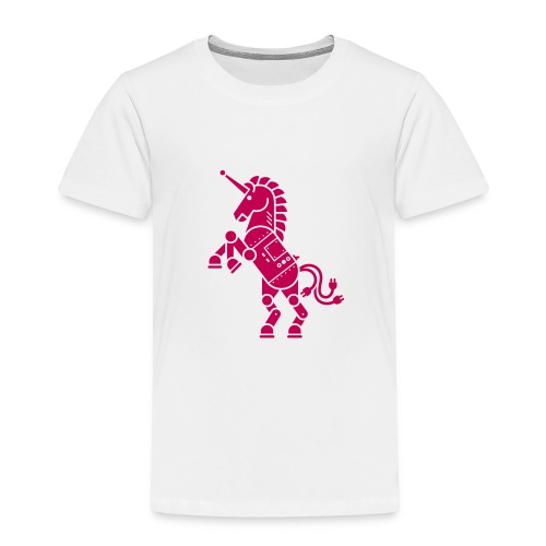 Robicorn Dark Pink on White - Toddler Premium T-Shirt