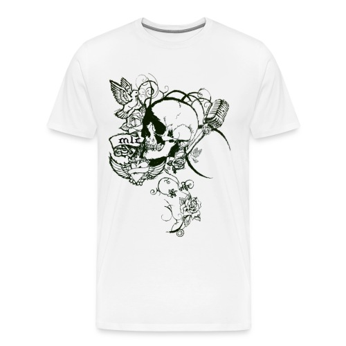 Skull/Vines White - Men's Premium T-Shirt