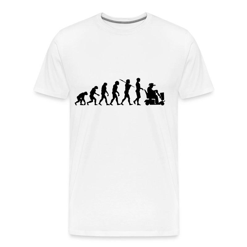 Evolution of Man - Scooter Guy - Men's Premium T-Shirt