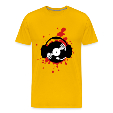 Music splatter dj design t shirts t shirt spreadshirt Dj t shirt design