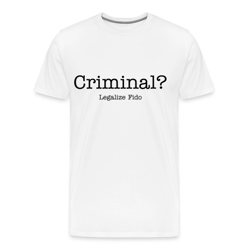 Criminal? -  Mens - White - Men's Premium T-Shirt