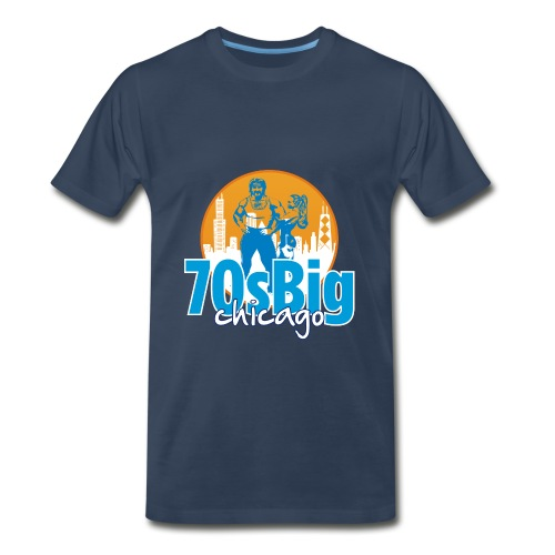 70's Big Chicago shirt - Men's Premium T-Shirt