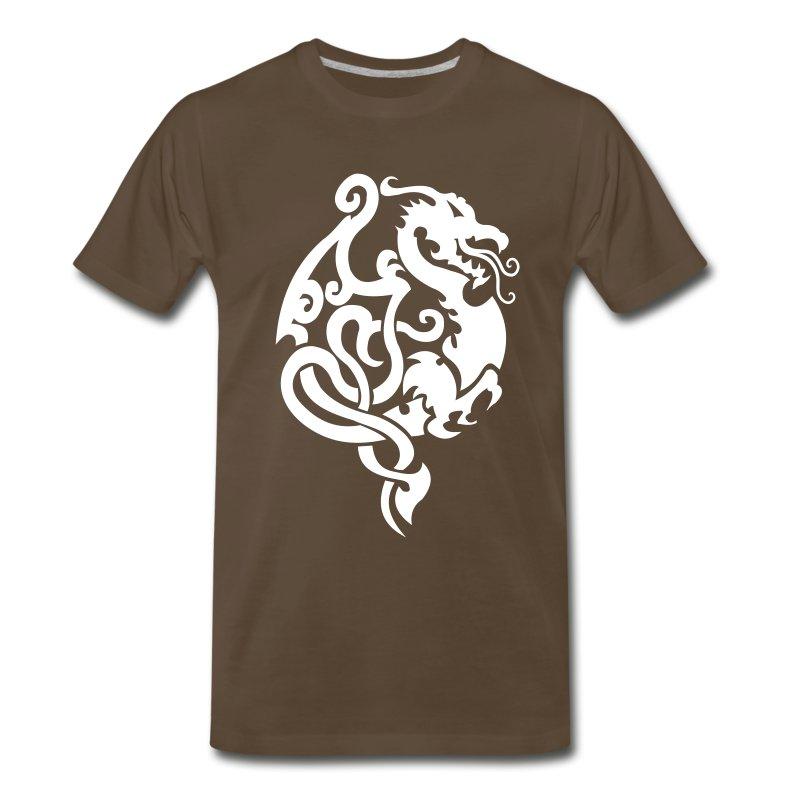 Dragon tribal tattoo 9 t shirt spreadshirt for Tribal tattoo shirt