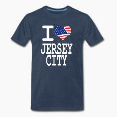 i love jersey city - white T-Shirts