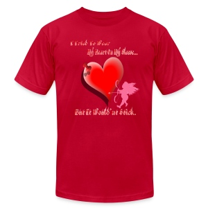 Wanted My Heart On My Sleeve - Men's Fine Jersey T-Shirt