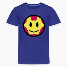 Iron Smiley Man / Iron Man Icon 3c Kids' Shirts