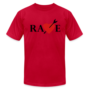 RA♥E PINK Heavy T - Men's T-Shirt by American Apparel