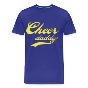 Cheer Daddy Mens 3x 4x  yellow lettering - Men's Premium T-Shirt