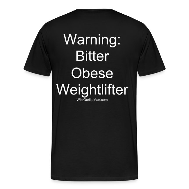 Mens 3X-4X SAVAGE  Bitter Obese Weightlifter Tee