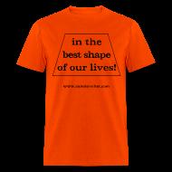 T-Shirts ~ Men's T-Shirt ~ Men's FRONT ONLY: Best Shape (orange)
